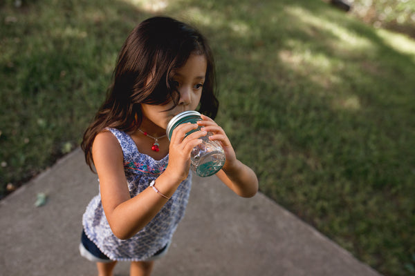 mason jar straw top 8 oz ounces regular mouth silicone straw bpa free ball canning girl drinking