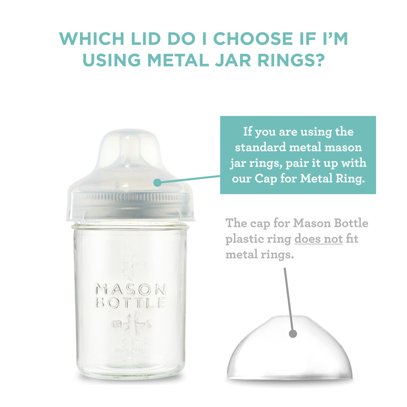 Cap for Metal Mason Jar Rings