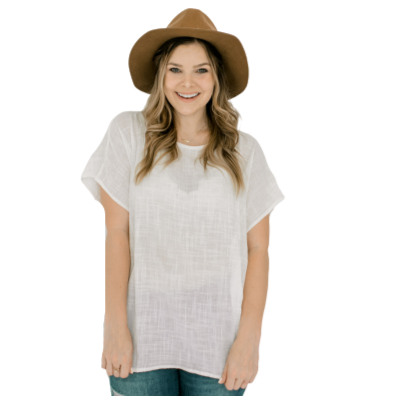 The Essential Top for Women, 100% Woven Cotton Gauze - Mason Bottle