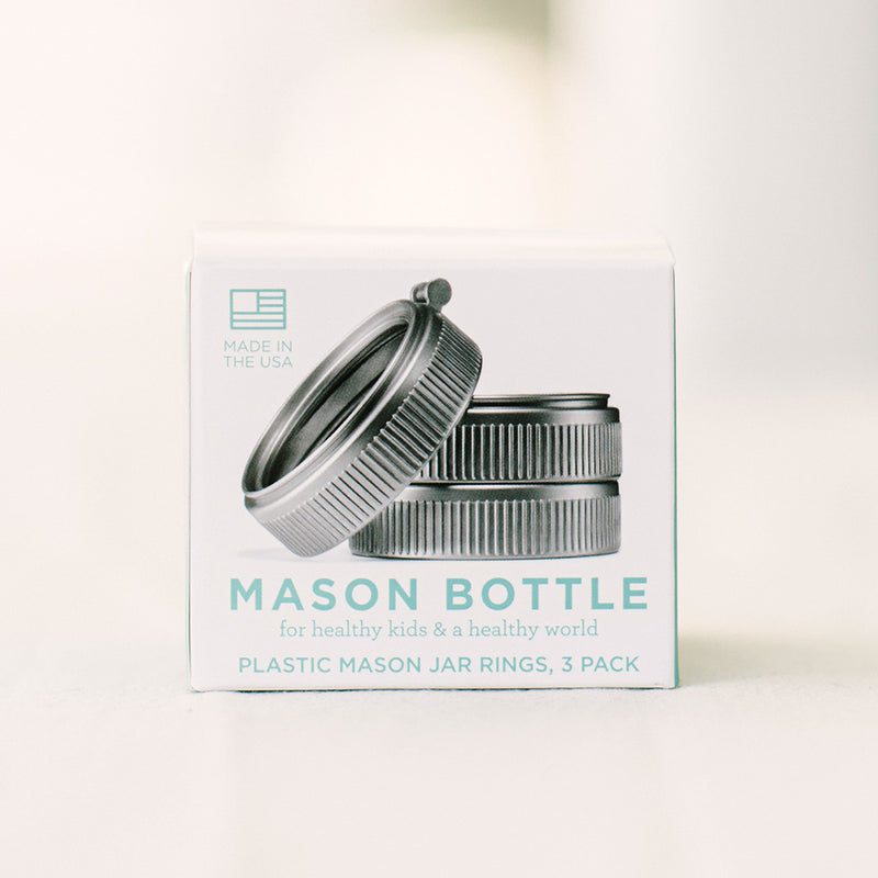 Mason Bottle Plastic Rings (Pack of 3)