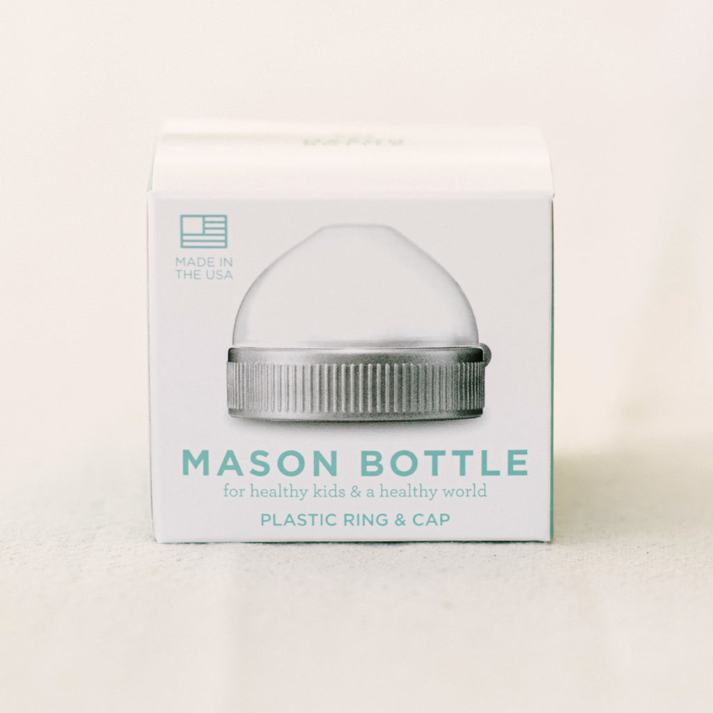 Mason Bottle Plastic Ring + Cap