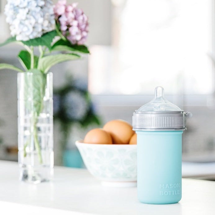 Mason Bottle Silicone Baby Bottle - Mason Bottle