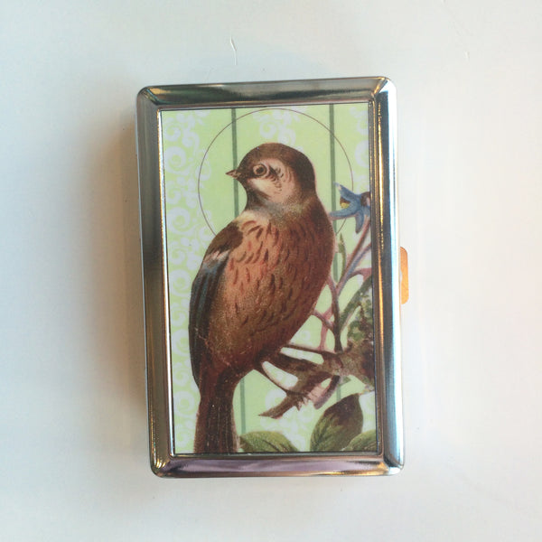 Cigarette Case-Wallet-Vintage Bird