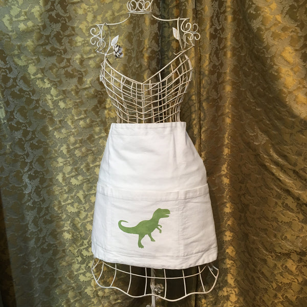 OUT OF STOCK- Half Bistro Apron - T-REX