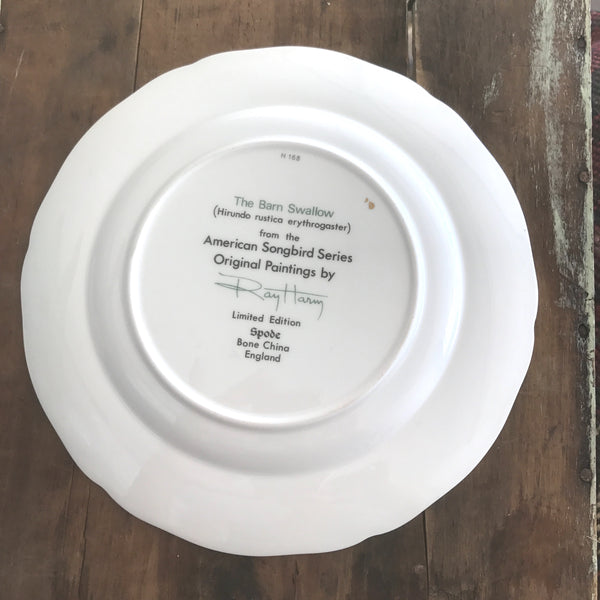 Vintage Decorative Plate - Spode - Barn Swallow