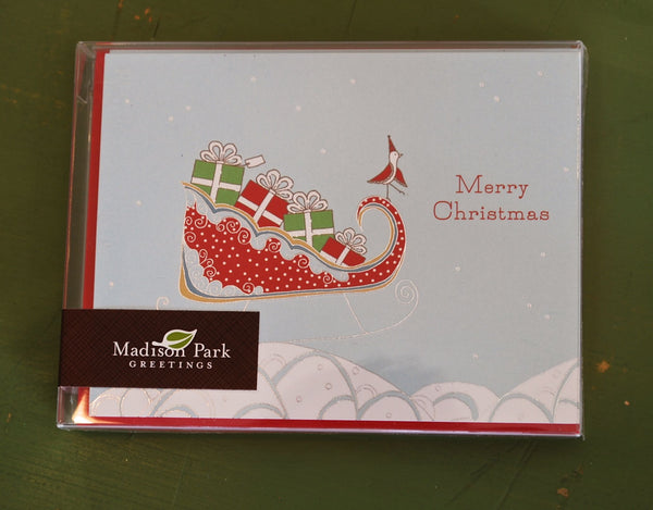 Merry Christmas Sleigh Boxed Holiday Cards