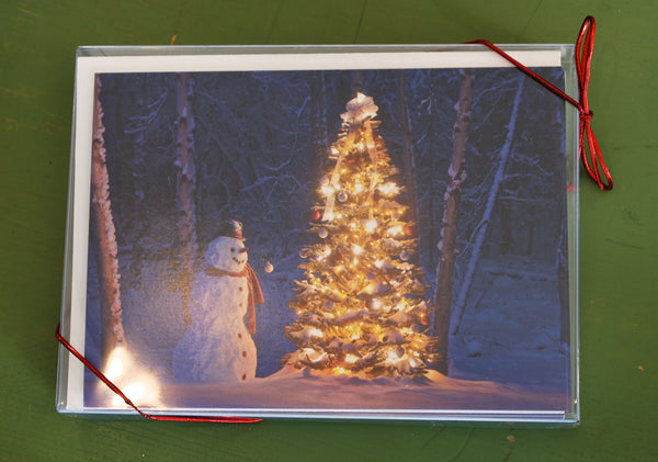 Magical Snowman Christmas Card SALE