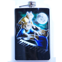 Cats Playing Piano Flask