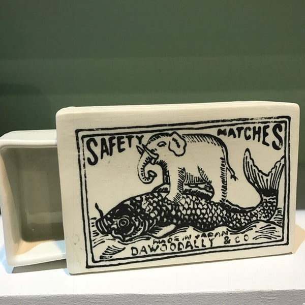 Ceramic Tabletop Matchbox