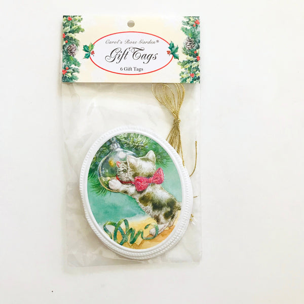 cat ornament gift tag