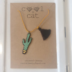 Cat Children's Cactus Necklace