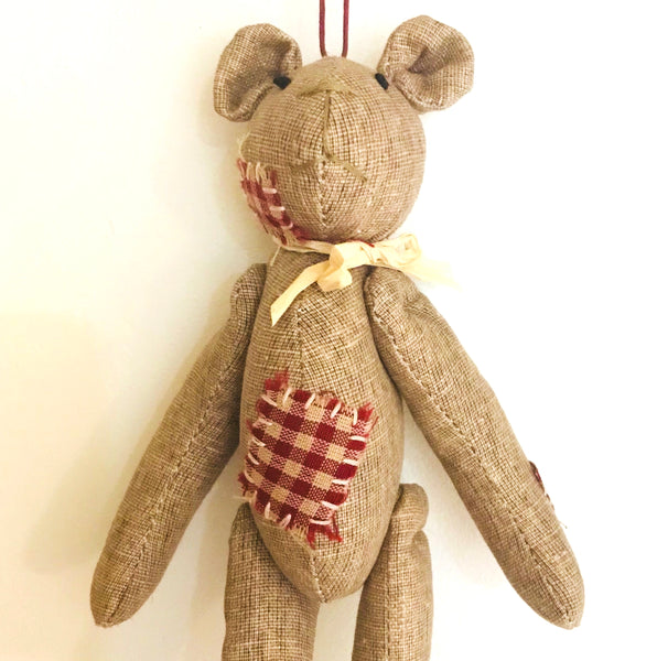 Teddy Bear Ornament - Country Look