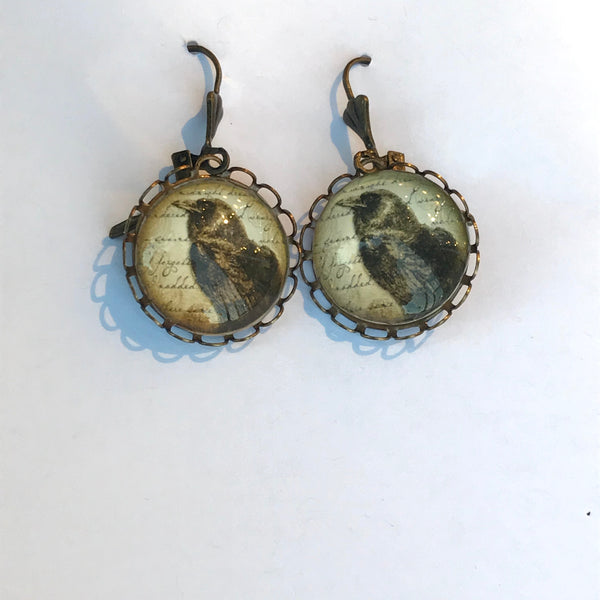 Crow Earrings