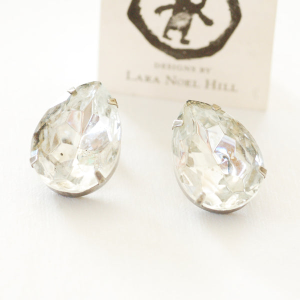 Crystal Vintage Costume Earrings