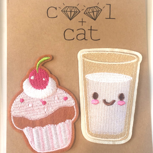 Cool Cat Cupcake and Milk Patches