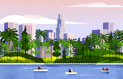 Echo Park Illustration