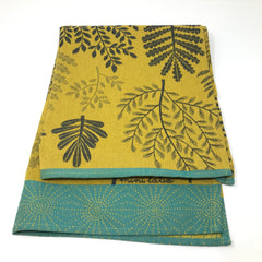 French Tea Towel Leaves Botanical
