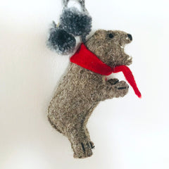 forest bear ornament