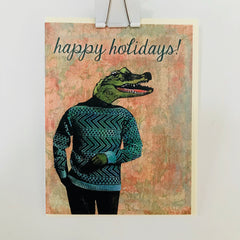 Happy Holidays Croc Pergamo Card