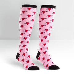 Hearts Women's Knee High Sock