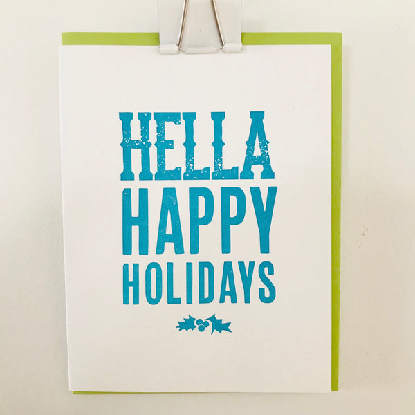 Hella Happy Holidays - Greeting Card