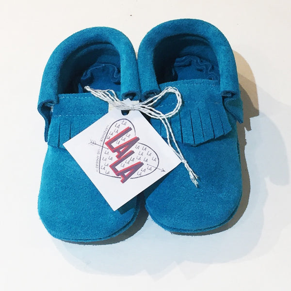 LA LA Moccasin - Turquoise - OUT OF STOCK