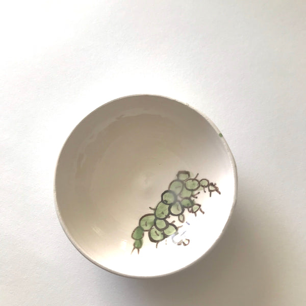 Cactus Trinket Dish Handmade in California Hand Painted