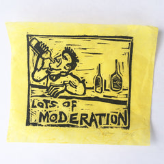 Lots of Moderation Block Print