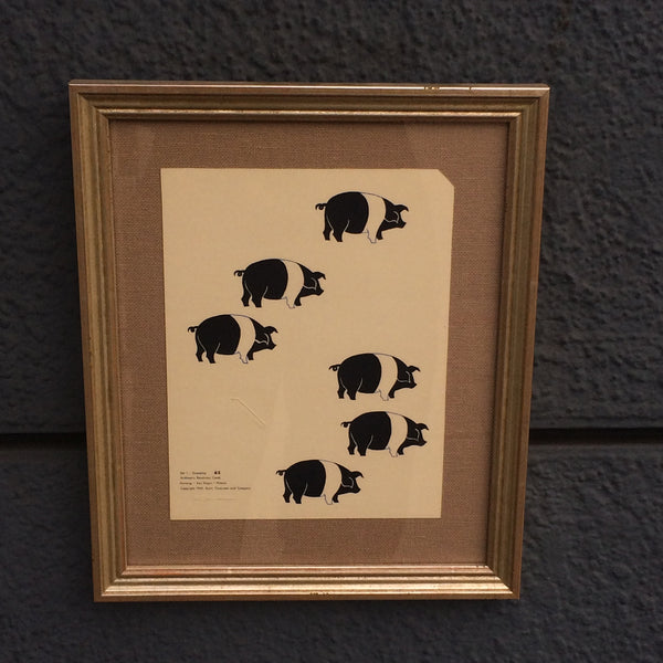 Framed Mid-Century Arithmetic Cards - Last One in Stock!