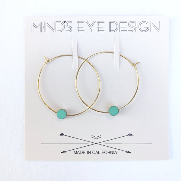 color story hoop earrings
