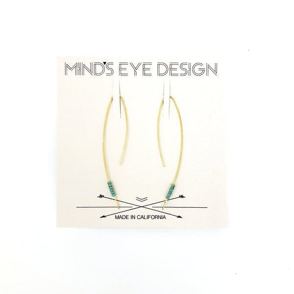 threader brass turquoise mind's eye made in usa