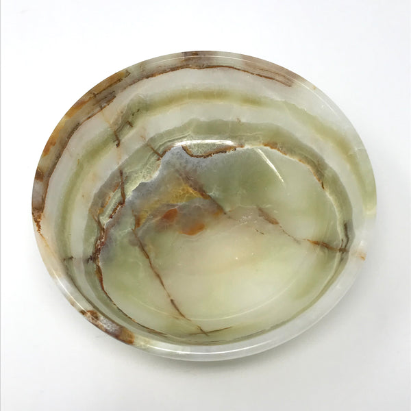 Multi Green Onyx Bowl 6""