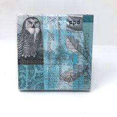 Winter Owl Cocktail napkin