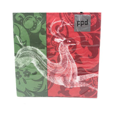 Paper Dinner Napkins Holiday Deer