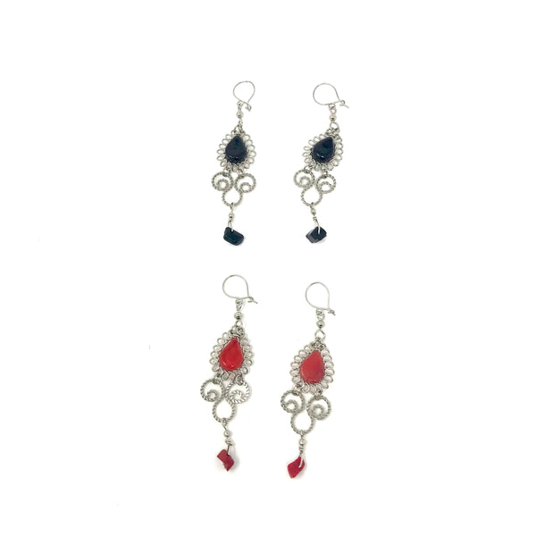 Peruvian Earrings with Stones Sale