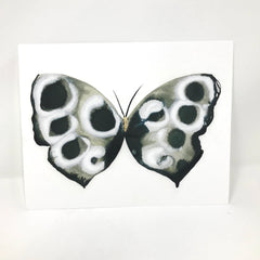 Black and White Butterfly Print with Gold Leaf Embellish