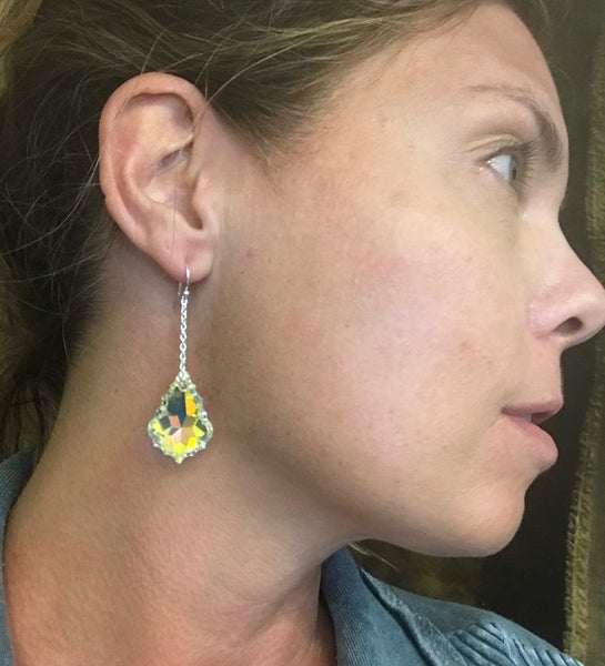 Juan Sigala Swarovsky Crystal Earrings
