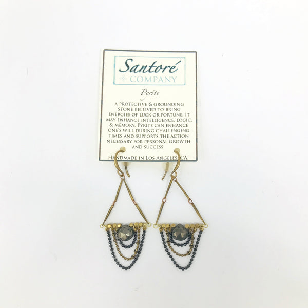 Pyrite Earrings Made in the USA