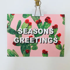 seasons greetings cactus