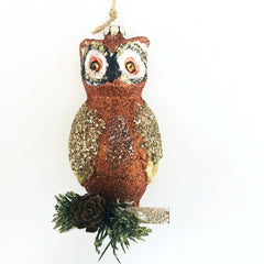 Glittery Owl Ornament SALE