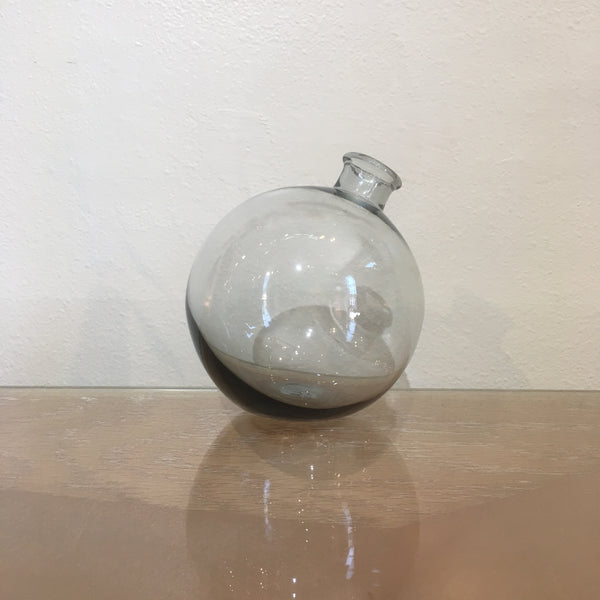 Rose Sphere Vase, Smoke Sphere Vase