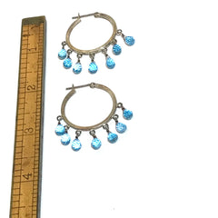 Swiss Topaz Hoop Earrings