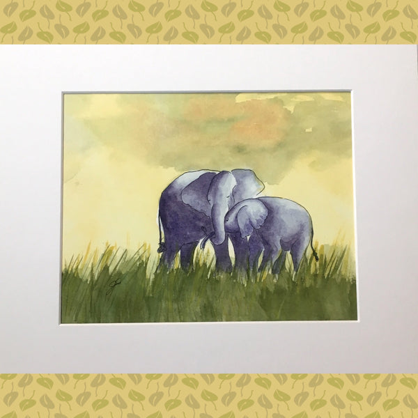 Elephants Print Taussig Made in Los Angeles