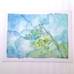 Judy Taussig Original Water Color Birds Nest