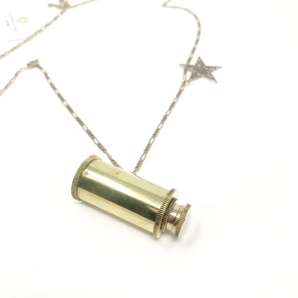 Brass Telescope Necklace