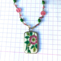 Vintage Pottery Shard Necklace