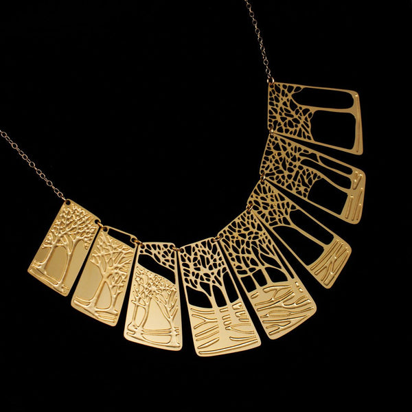 Winter Necklace Gold