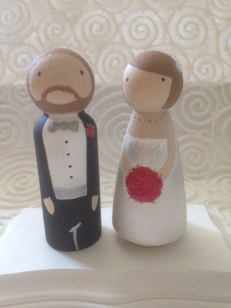 "Custom ""PEG PEOPLE"" on Stand/Cake Topper"