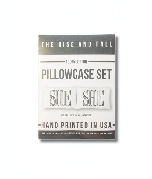 She She Pillow Case Set  - SALE