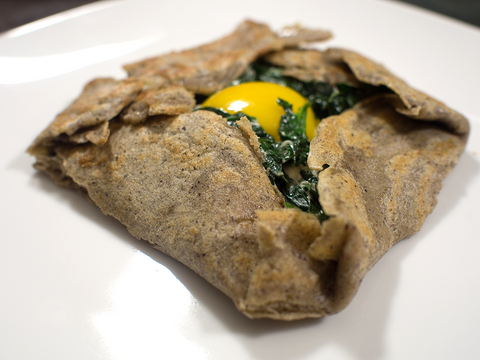 Spinach buckwheat galette Marlette Savors Of Europe